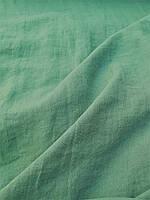 """Льняная ткань для постельного белья """"Вымытый зеленый"""" с эффектом """"помятости"""" (шир. 260 см), фото 1"""