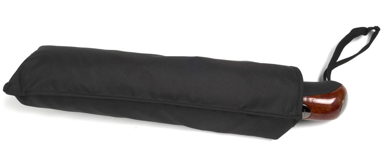Мужской прочный зонт полуавтомат классический  Belissimo art. 361 черный