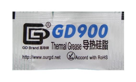 Термопаста GD900 весом 0.5 гр для процессоров и видеокарт ноутбуков и ПК