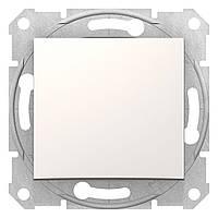 Выключатель одноклавишный Schneider Electric Sedna слоновая кость (SDN0100123)