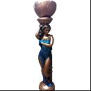 "Скульптура для сада из гипса ""Татьяна"", 1 метр"