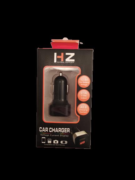 Адаптер 2USB в прикуриватель HZ CAR CHARGER с вольтметром