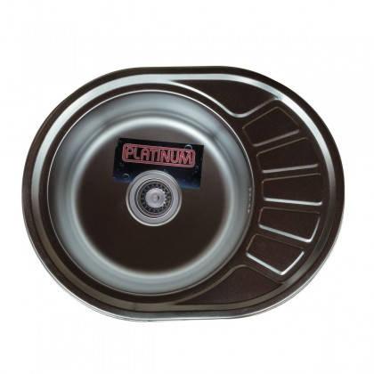 Мойка из нержавеющей стали 08мм Platinum 5745 сатин, фото 2