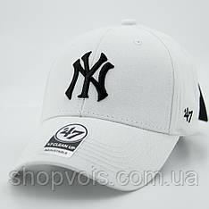 Кепка 47 Brand New York Yankees M255 Бейсболка Белая