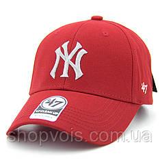 Кепка 47 Brand New York Yankees M256 Бейсболка Красная (реплика)
