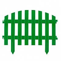 "Забор декоративный ""ВИНТАЖ"", 28 х 300 см, зелёный, 7 секций // PALISAD 65012"