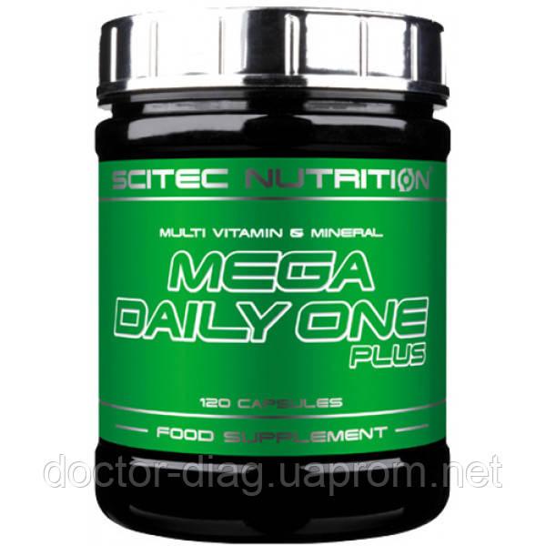 Scitec Nutrition Мультивитаминный комплекс Scitec Nutrition Mega Daily One Plus, 120 капс.