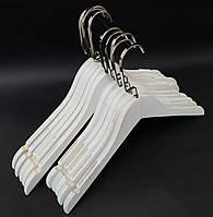 Вешалки деревянные белого цвета под старину, 38 см, 5 шт в упаковке, фото 1