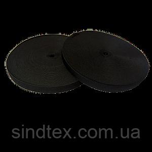 Широкая бельевая резинка для одежды черная 1,5 см х 22,5 (СИНДТЕКС-0066)