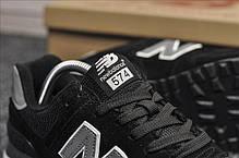 """Кроссовки New Balance 574 """"Черные"""".  Рефлективные, фото 3"""