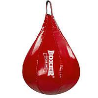 Груша набивная Каплевидная подвесная BOXER 1014-02 Капля малая (ткань ПВХ 0,7мм, наполн.-ветошь х/б, красный, синий) Красный