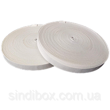 Широкая бельевая резинка для одежды Sindtex белая 1,5 см х 22,5 м (СИНДТЕКС-0052)