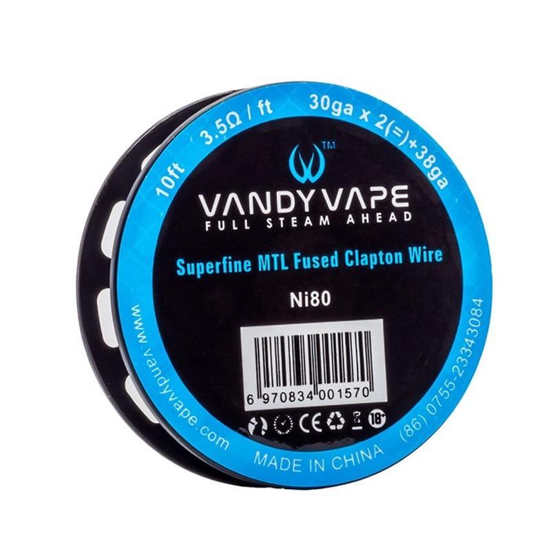 Проволока для спирали Vandy Vape Superfine MTL Fused Clapton Ni80 30ga х 2 + 38ga 3 м