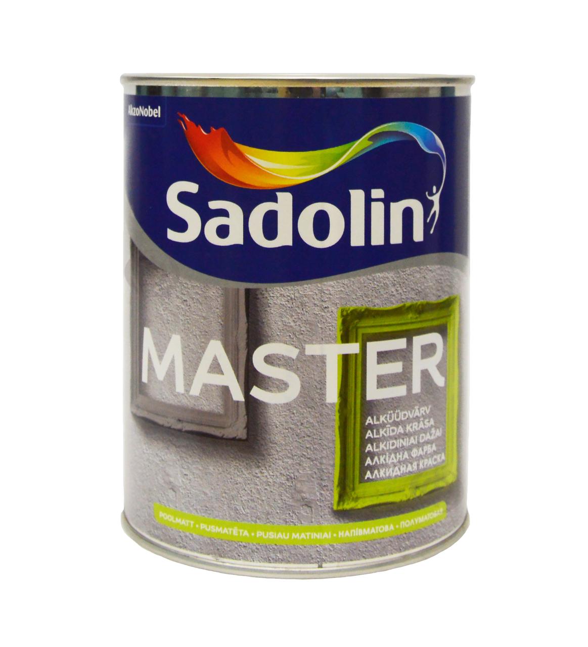 Краска Sadolin MASTER 30 - полуматовая универсальная эмаль, белый BW