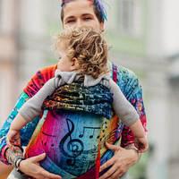 Май-слинг LENNYLAMB Wrap-Tai Carrier Mini Symphony Rainbow Dark