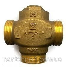 """Трехходовой термосмесительный клапан HERZ-TEPLOMIX для повышения температуры обратной линии DN 25 1"""". Киев, фото 2"""