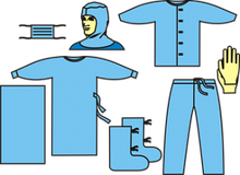 Комплект одягу протиепідемічний № 2, для роботи зі збудниками 3-4 групи патогенності - черевний тиф, дифтерія,