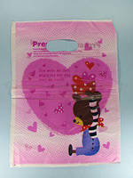 Пакет с вырубной ручкой Подарочный (25*35) №12 китай (100шт) (1 пач)