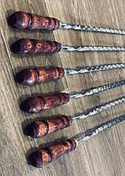 Шампур с деревянной ручкой - ручная работа (сталь 3 мм)