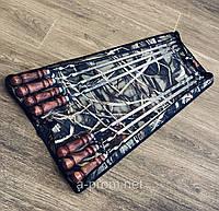 Набор шампуров с деревянной ручкой в чехле (7 шт.)