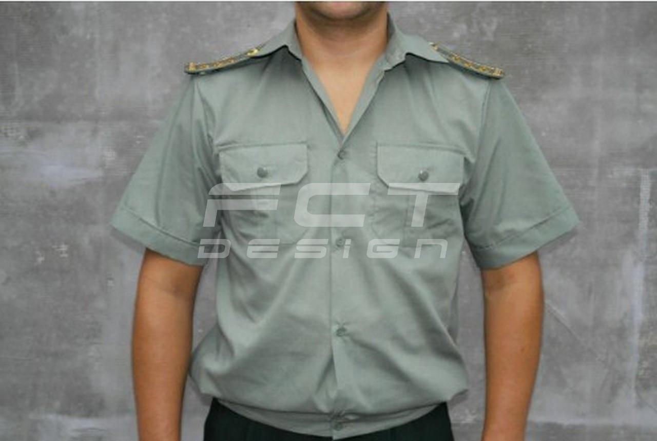 Форменная рубашка короткий рукав, шведка (олива)