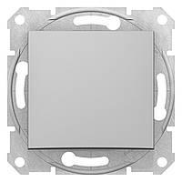 Переключатель одноклавишный проходной Schneider Electric Sedna алюминий (SDN0400160)