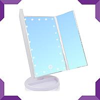 Тройное зеркало со ставнями Led miror,белый