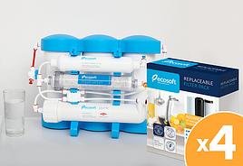Рійний запас картриджів для фільтра зворотного осмосу Ecosoft P`ure AquaCalcium