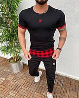 Мужская футболка черная Sik Silk GAN00
