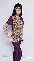 Женский хирургический костюм Грациоз коттон короткий рукав, фото 1