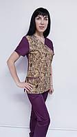 Женский хирургический костюм Грациоз коттон короткий рукав