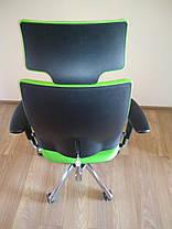 Крісло офісне Hip Hop R HR пластик чорний хрестовина AL33, тканина CN-200 (Новий Стиль ТМ), фото 2