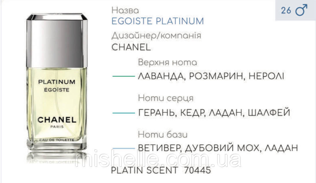 Концентрат PLATIN SCENT (105гр) (Альтернатива Chanel Egoiste Platinum )