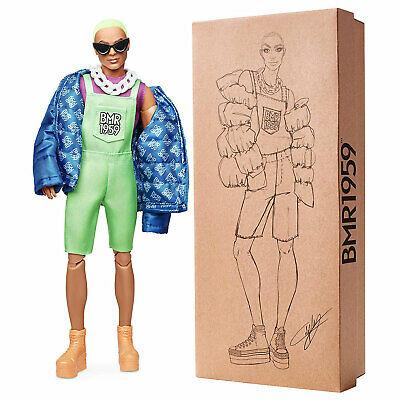 Коллекционная кукла Барби Кен Модный неоновый комбинезон Barbie BMR1959 Ken Neon Overalls