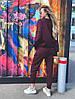 Женский спортивный костюм из трехнитки размеры 42-52 бордовый, фото 6