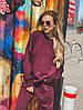 Женский спортивный костюм из трехнитки размеры 42-52 бордовый, фото 7