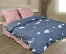 Бязевый двухспальный комплект постельного белья приятного качества.