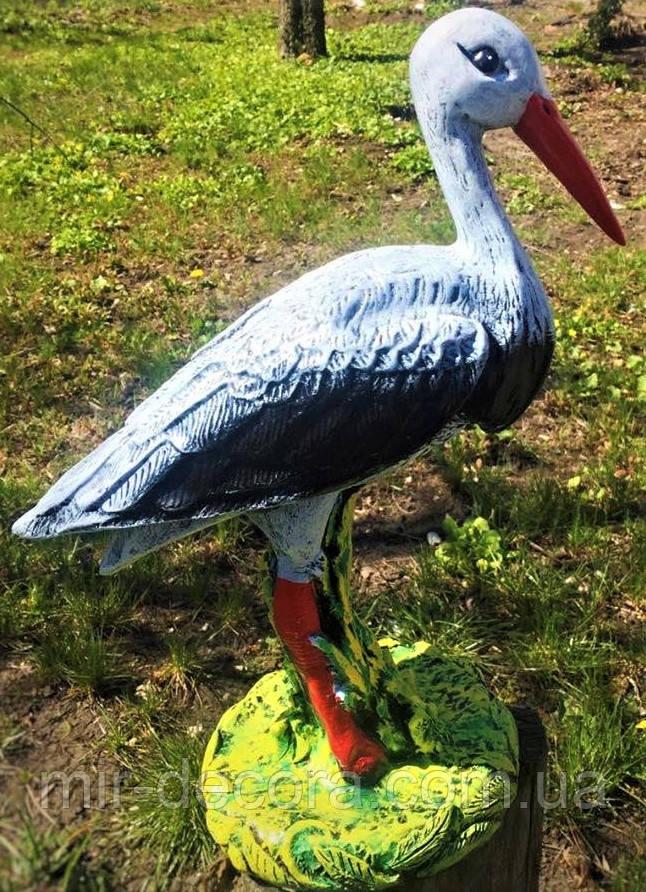 Садово-парковая фигура из гипса Аист, 36 см