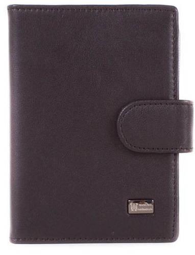 Кожаный мужской бумажник для водителя WANLIMA (ВАНЛИМА) W500436143-black( черный)