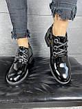 Жіночі туфлі шкіряні весна/осінь чорні-лак DARINI 215, фото 3