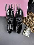 Жіночі туфлі шкіряні весна/осінь чорні-лак DARINI 215, фото 6