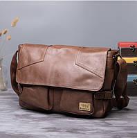 Мужская кожаная сумка. Модель 61234, фото 10