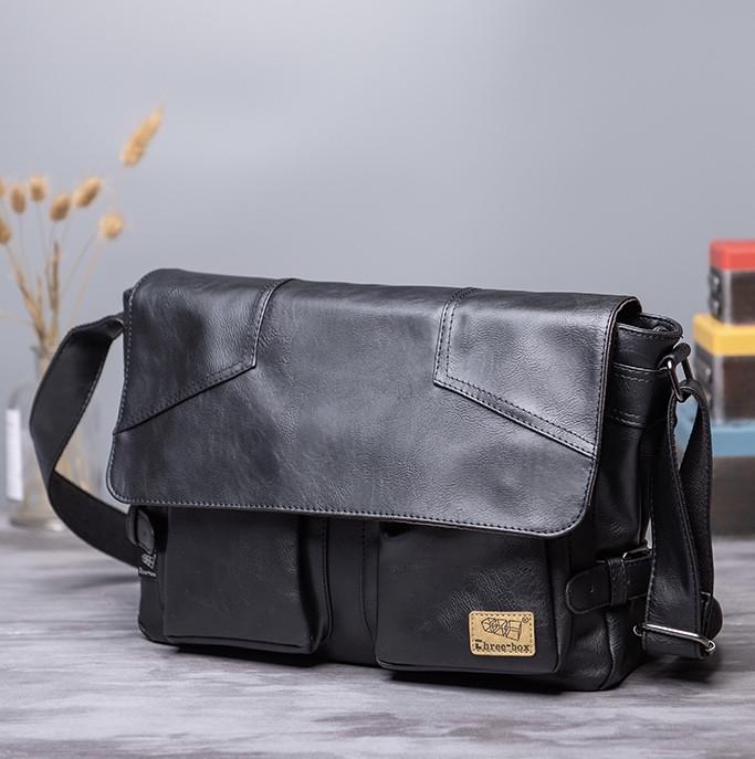 Мужская кожаная сумка. Модель 61234