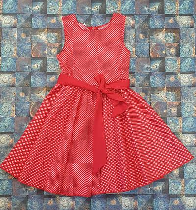 Платье в горошек для девочки Фея 104-122 красный, фото 2