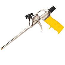 Пистолет для пены Будмонстр (никелир покрытие, АЛЮМИН корпус)+4 насадки