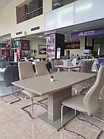 Раздвижной стол TMM-50-1 Vetro Mebel 120/160, матовый мокко