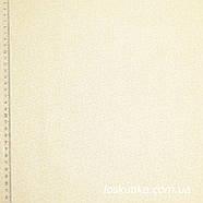 55015. Светлый узор. Ткань хлопковая, бежевая с мелким рисунком. Пычворк, трапунто, машинная стежка., фото 2