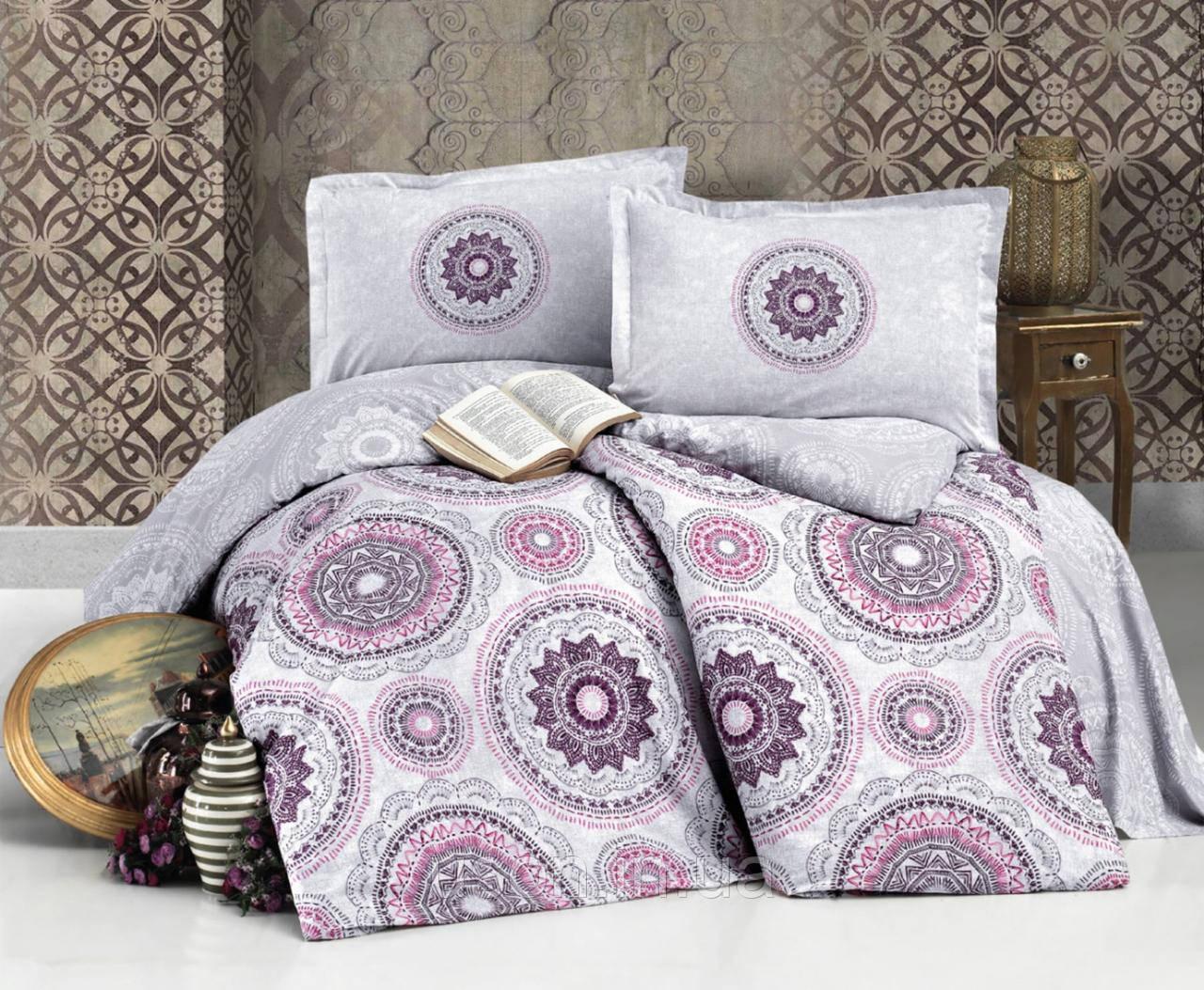 Комплект постельного белья Aran Clasy евро размер ранфорс Manila v2