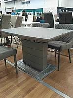 Раздвижной стол TMM-50-1 Vetro Mebel 120/160, матовый серый