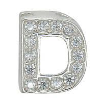 """Серебряная буква на цепочку """"D"""""""